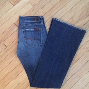 7 For All Mankind Flare Bootcut Jeans 25
